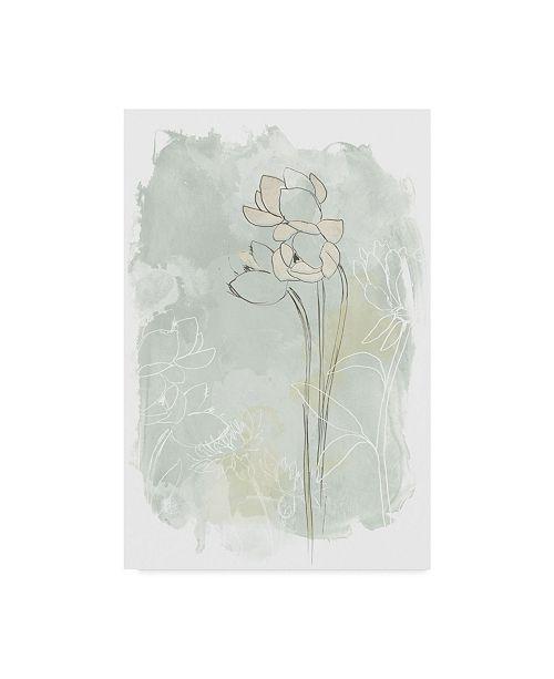 "Trademark Global June Erica Vess Stone Flower Study IV Canvas Art - 20"" x 25"""