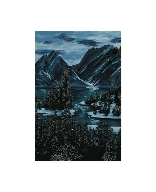 "Trademark Global Melissa Wang Mountainscape II Canvas Art - 20"" x 25"""