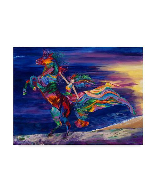"Trademark Global Linzi Lynn Night Ride Canvas Art - 15"" x 20"""