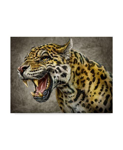 "Trademark Global Patrick Lamontagne Jaguar Totem Canvas Art - 15"" x 20"""
