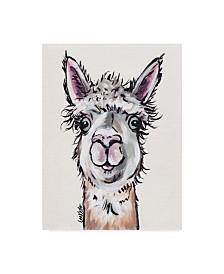 """Hippie Hound Studios Alpaca Maggie Canvas Art - 37"""" x 49"""""""