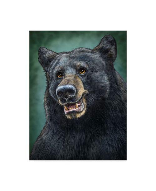 "Trademark Global Patrick Lamontagne Black Bear Totem Canvas Art - 15"" x 20"""