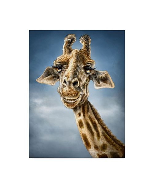 "Trademark Global Patrick Lamontagne Giraffe Totem Canvas Art - 20"" x 25"""