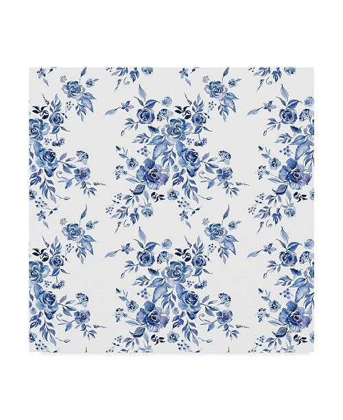 "Trademark Global Kristy Rice Delft Delight Pattern I Canvas Art - 20"" x 25"""