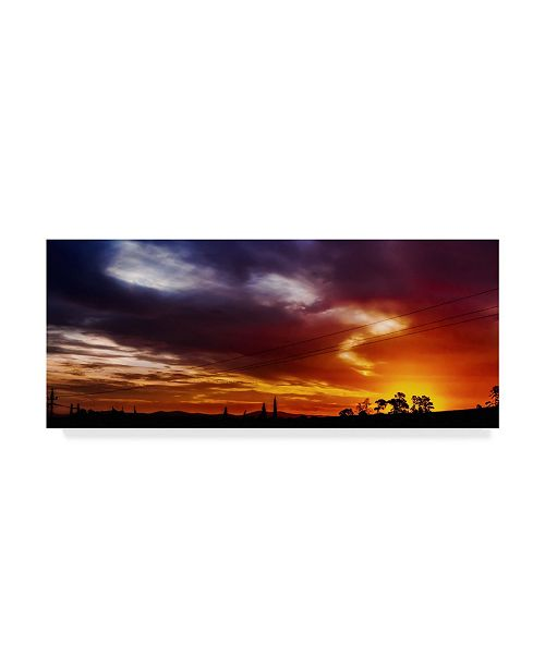 "Trademark Global Pixie Pics Colorful Sunset Canvas Art - 37"" x 49"""
