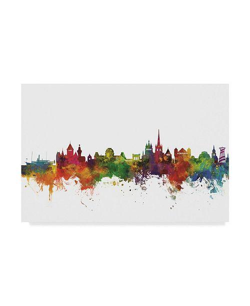 "Trademark Global Michael Tompsett Lausanne Switzerland Skyline II Canvas Art - 20"" x 25"""