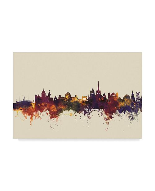 "Trademark Global Michael Tompsett Lausanne Switzerland Skyline III Canvas Art - 20"" x 25"""