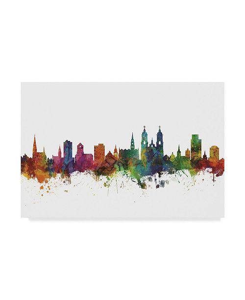 "Trademark Global Michael Tompsett St Gallen Switzerland Skyline II Canvas Art - 20"" x 25"""