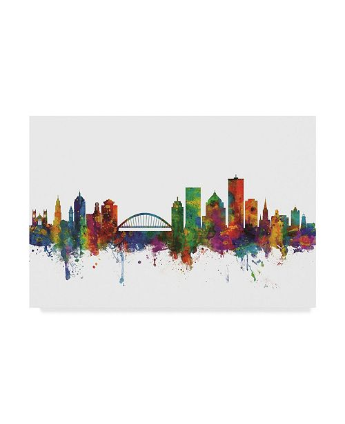 "Trademark Global Michael Tompsett Rochester New York Skyline II Canvas Art - 37"" x 49"""