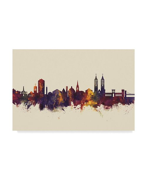 "Trademark Global Michael Tompsett Kassel Germany Skyline III Canvas Art - 20"" x 25"""