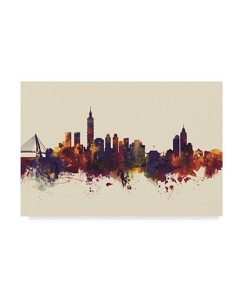 """Trademark Global Michael Tompsett Taipei Taiwan Skyline III Canvas Art - 20"""" x 25"""""""