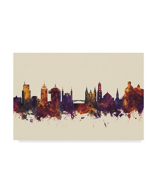 "Trademark Global Michael Tompsett Ljubljana Slovenia Skyline III Canvas Art - 20"" x 25"""