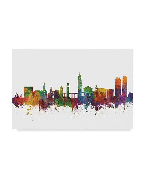"Trademark Global Michael Tompsett Split Croatia Skyline II Canvas Art - 15"" x 20"""
