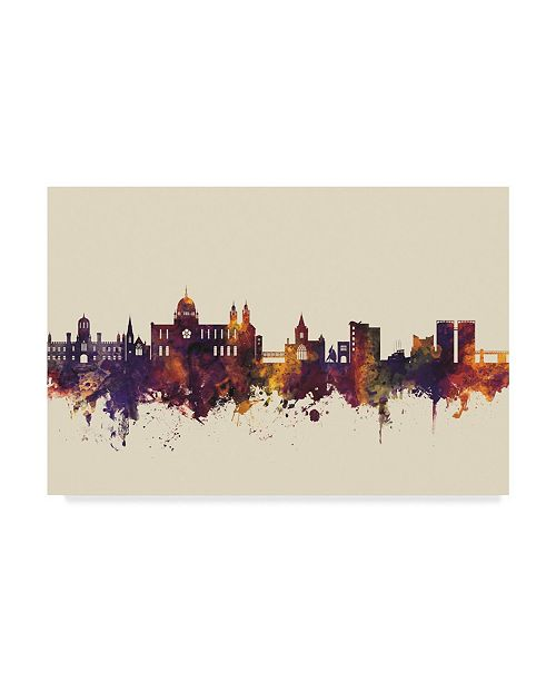 "Trademark Global Michael Tompsett Galway Ireland Skyline III Canvas Art - 20"" x 25"""