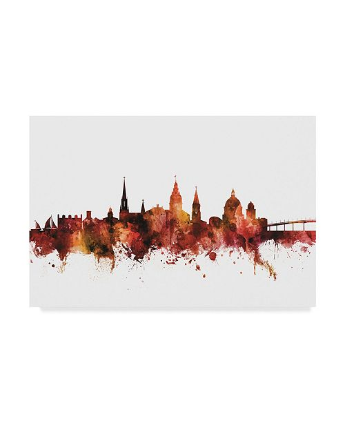 "Trademark Global Michael Tompsett Annapolis Maryland Skyline Red Canvas Art - 20"" x 25"""