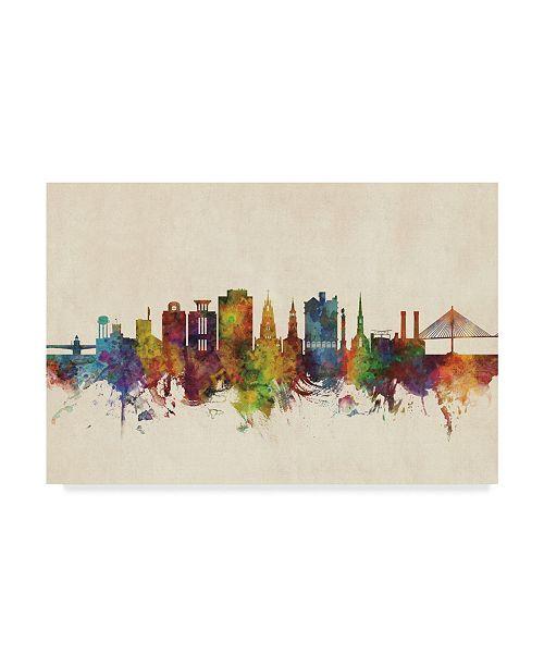 "Trademark Global Michael Tompsett Charleston South Carolina Skyline Canvas Art - 15"" x 20"""