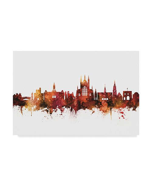 "Trademark Global Michael Tompsett Winchester England Skyline Red Canvas Art - 15"" x 20"""