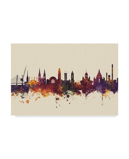 "Trademark Global Michael Tompsett Helsinki Finland Skyline III Canvas Art - 15"" x 20"""
