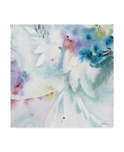 """Trademark Global Sheila Golden Blues Along the Way Canvas Art - 15"""" x 20"""""""
