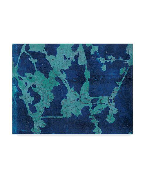 "Trademark Global Regina Moore Brackish Flowers I Canvas Art - 37"" x 49"""