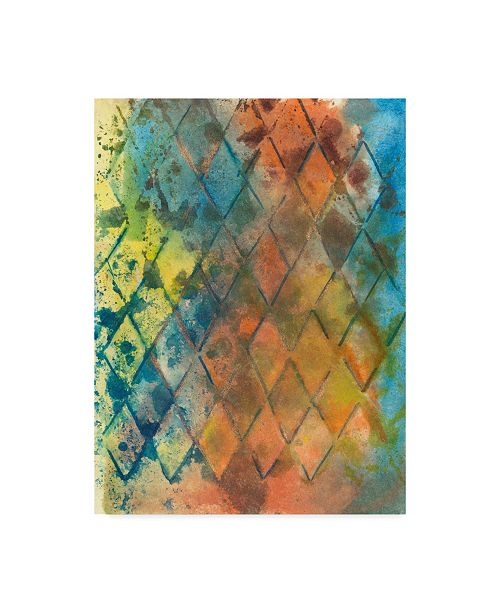 "Trademark Global Joyce Combs Spring Lattice I Canvas Art - 20"" x 25"""