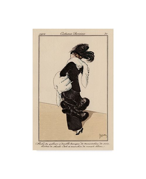 """Trademark Global Unknown Vintage French Fashion I Canvas Art - 37"""" x 49"""""""