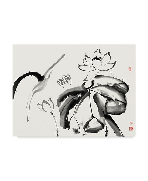 "Trademark Global Nan Rae Lotus Study III Canvas Art - 15"" x 20"""