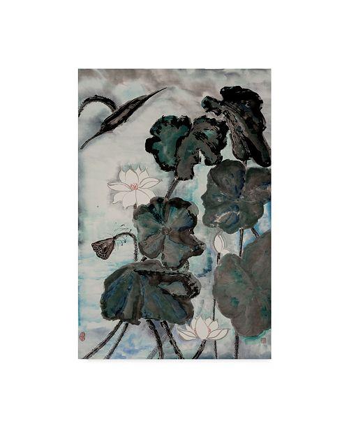 "Trademark Global Nan Rae Ua Ch Lotus Study with Blue Green I Canvas Art - 15"" x 20"""