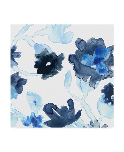 """Trademark Global June Erica Vess Blue Gossamer Garden III Canvas Art - 27"""" x 33"""""""