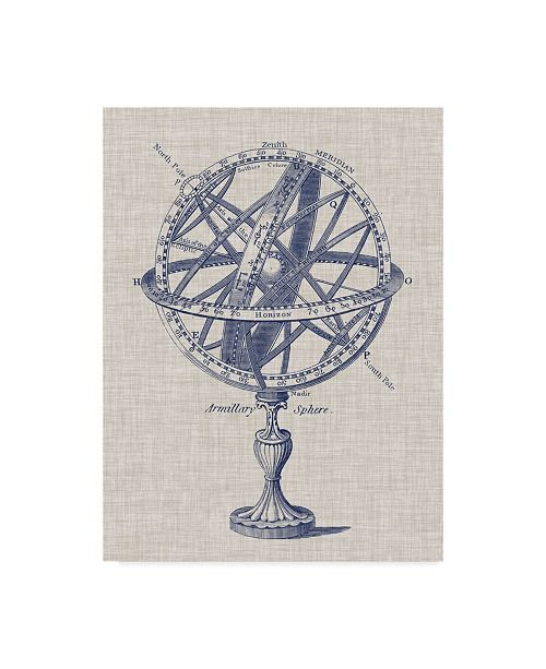 "Trademark Global Vision Studio Armillary Sphere on Linen I Canvas Art - 37"" x 49"""