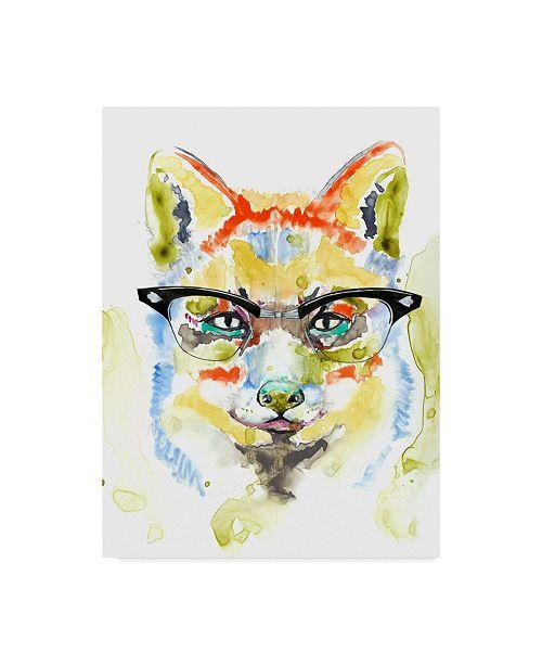 "Trademark Global Jennifer Goldberger Smarty Pants Fox Canvas Art - 37"" x 49"""