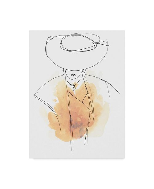 "Trademark Global June Erica Vess Fashion Splash III Canvas Art - 20"" x 25"""