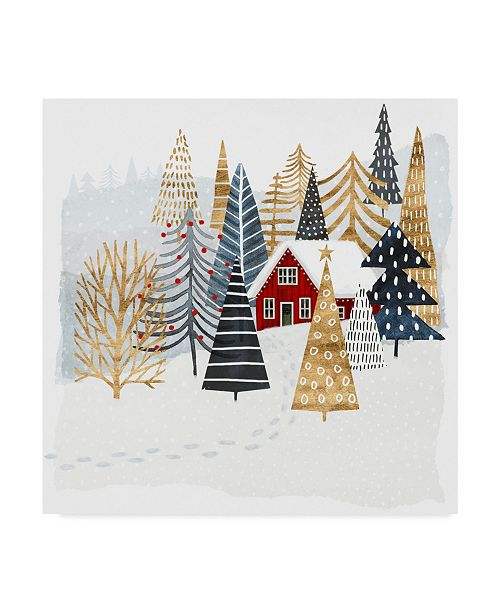 "Trademark Global Victoria Borges Christmas Chalet I Canvas Art - 15"" x 20"""