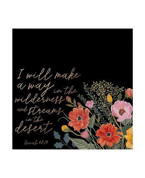 """Trademark Global Studio W Floral Faith IV Canvas Art - 15"""" x 20"""""""