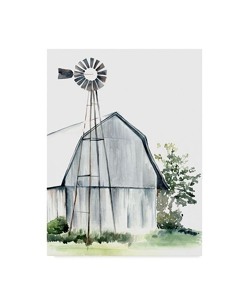 "Trademark Global Jennifer Paxton Parker Watercolor Barn I Canvas Art - 20"" x 25"""
