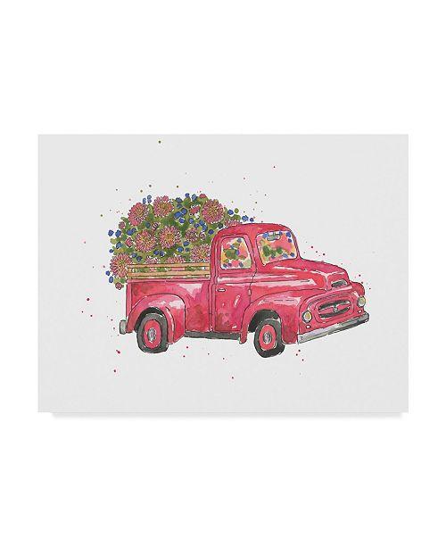 "Trademark Global Catherine Mcguire Flower Truck IV Canvas Art - 20"" x 25"""