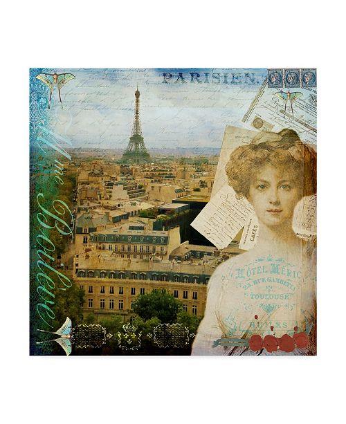 "Trademark Global Sandy Lloyd Eiffel Romance II Canvas Art - 27"" x 33"""