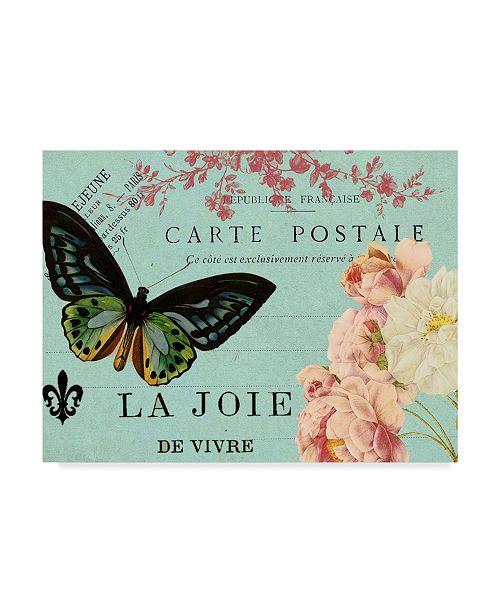 "Trademark Global Sandy Lloyd Postcards of Paris IV Canvas Art - 20"" x 25"""