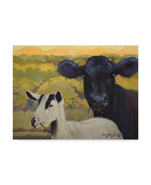"""Trademark Global Carolyne Hawley Farm Pals IV Canvas Art - 15"""" x 20"""""""
