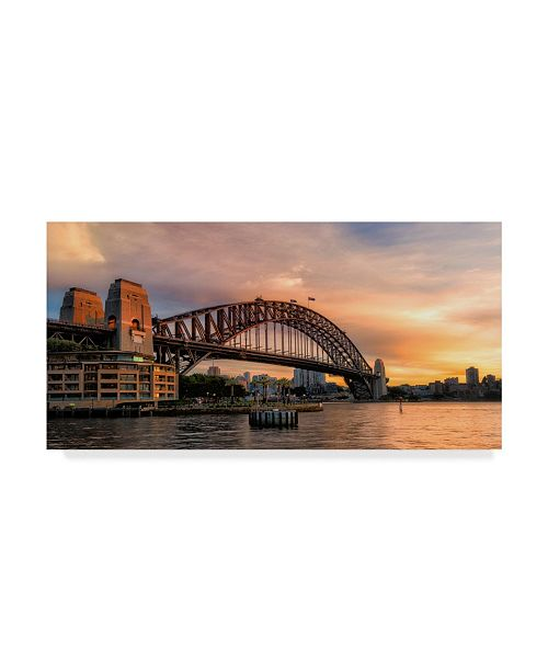 "Trademark Global Danny Head Harbor Bridge Canvas Art - 20"" x 25"""