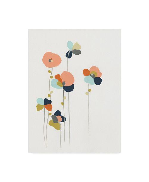 """Trademark Global June Erica Vess Modular Bouquet I Canvas Art - 37"""" x 49"""""""