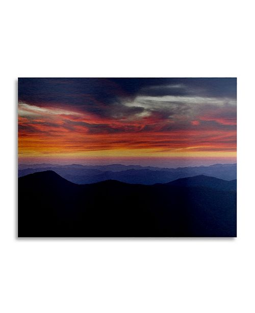 "Trademark Global Pierre Leclerc Mount Mitchell Sunset Floating Brushed Aluminum Art - 22"" x 25"""