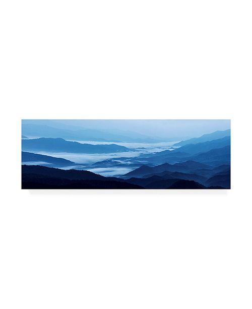 "Trademark Global James Mcloughlin Misty Mountains XIII Canvas Art - 15"" x 20"""