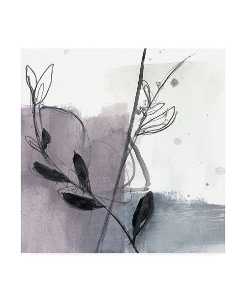 "Trademark Global Jennifer Goldberger Ua Ch Blush Flower Splash VII Canvas Art - 20"" x 25"""