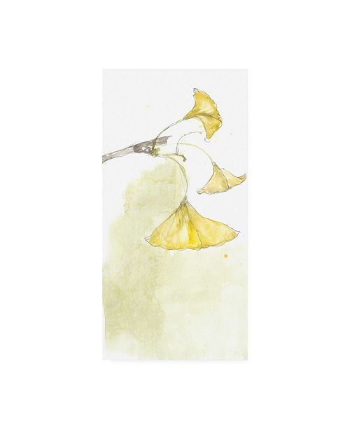 "Trademark Global Jennifer Goldberger Ginkgo Triptych III Canvas Art - 15"" x 20"""