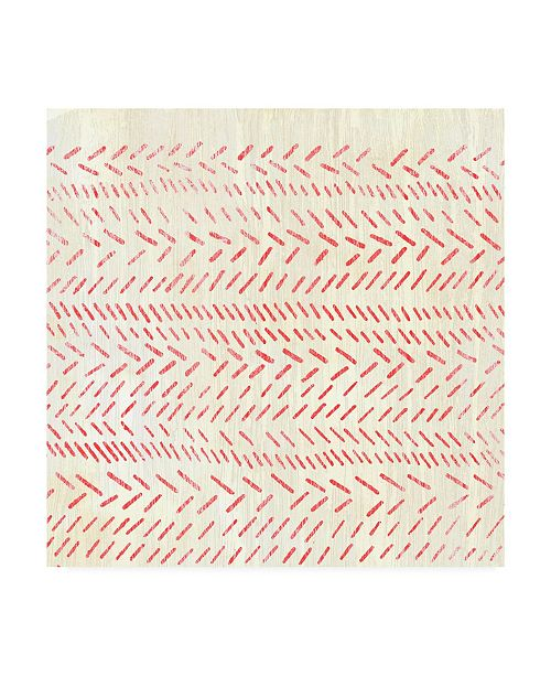 """Trademark Global June Erica Vess Weathered Patterns in Red II Canvas Art - 15"""" x 20"""""""