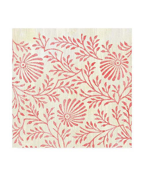 """Trademark Global June Erica Vess Weathered Patterns in Red VII Canvas Art - 15"""" x 20"""""""