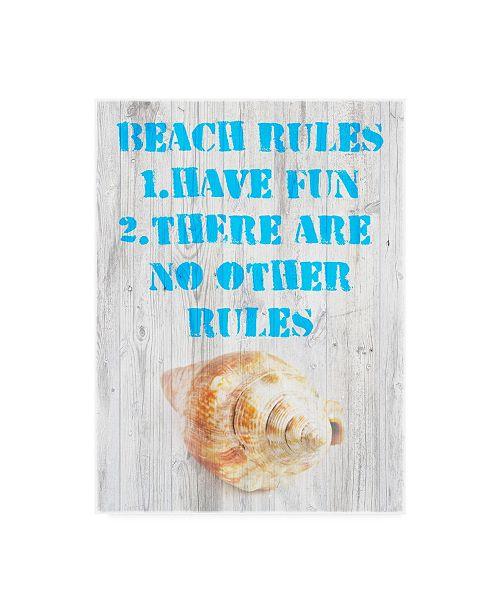"""Trademark Global Skip Nall Beach Rules III Canvas Art - 15"""" x 20"""""""