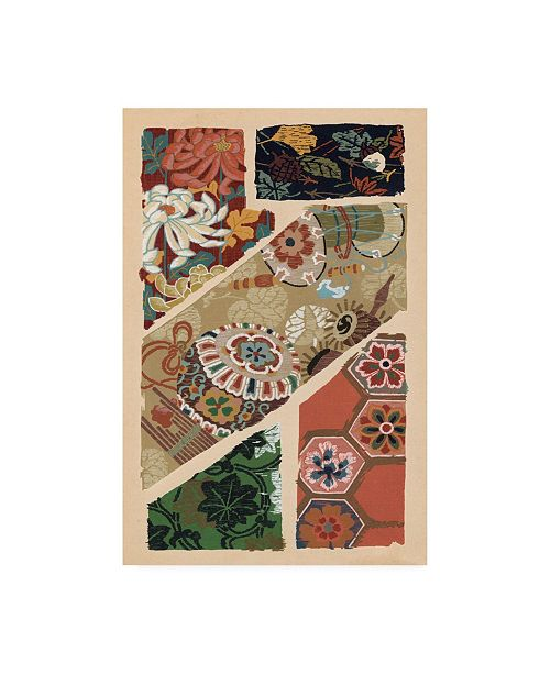 "Trademark Global Ema Seizan Japanese Textile Design V Canvas Art - 15"" x 20"""