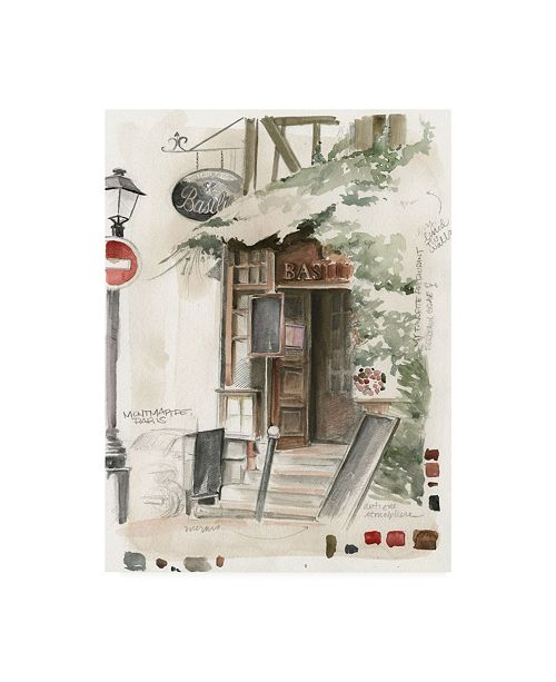 "Trademark Global Jennifer Paxton Parker Ua Ch Cafe Study I Canvas Art - 20"" x 25"""